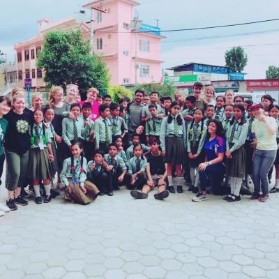 ネパールでチャイルドケア&地域奉仕活動 恵比寿陽希